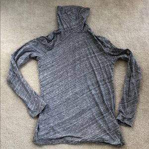 J. Crew space grey tissue turtleneck small